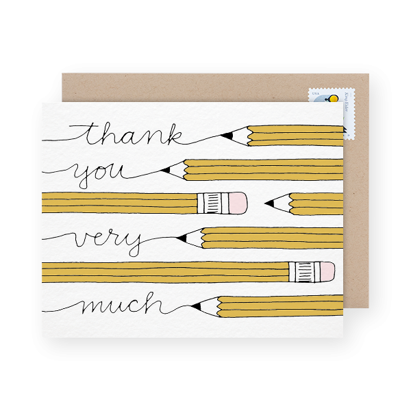 pencils-thank-you-card