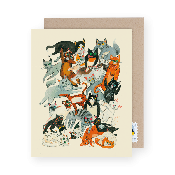 cats-painted-on-a-greeting-card