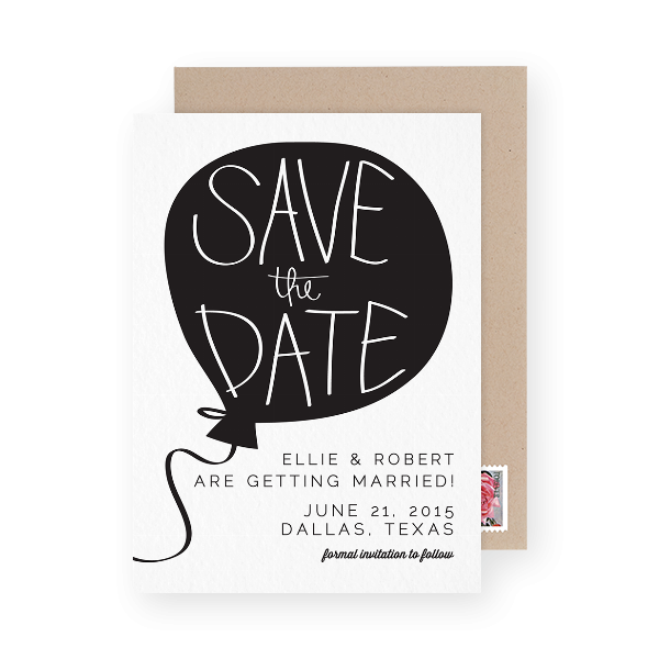 unusual wedding save the date