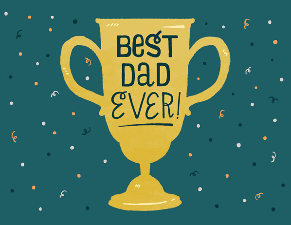 fathers day trophy card woah s day cards almost as awesome as your 4450