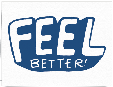 Bold Feel Better Get Well Card