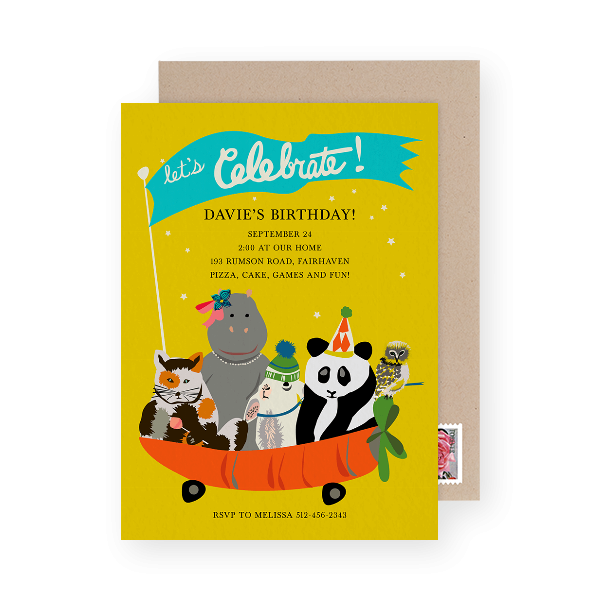 kids birthday party invitation