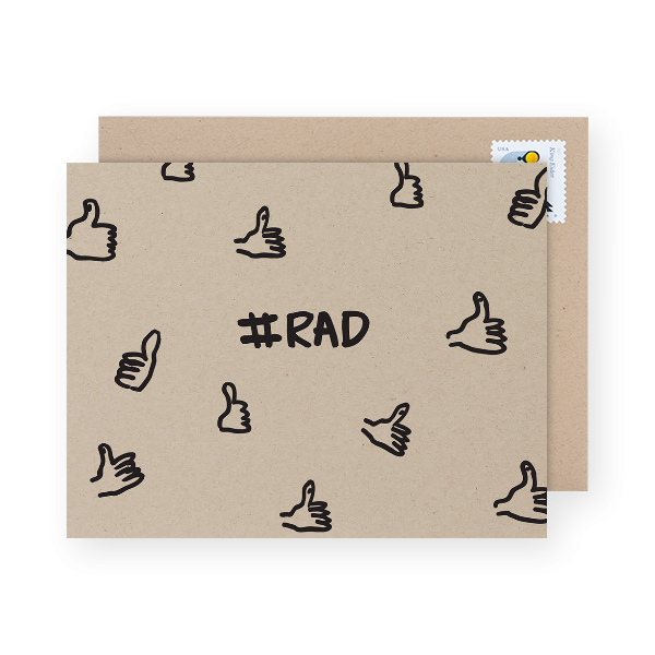 you're rad greeting card