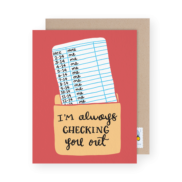 love pun greeting card