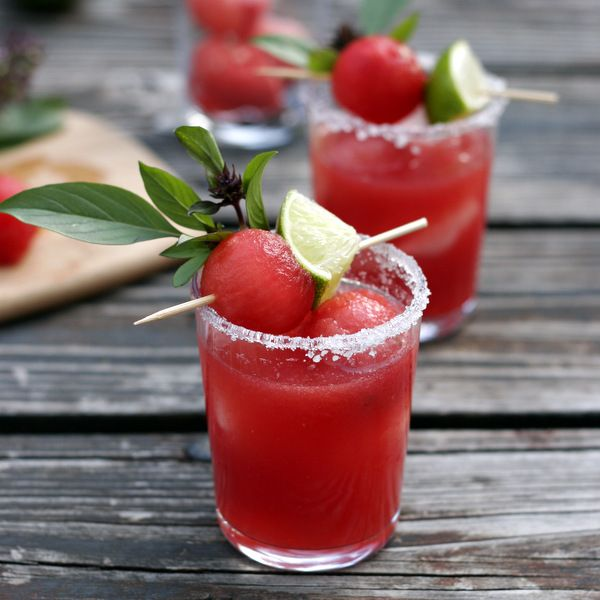 Thai Basil Watermelon Margarita