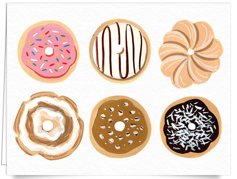 quirky donut art card