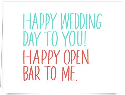 Funny Wedding Congratulations Card
