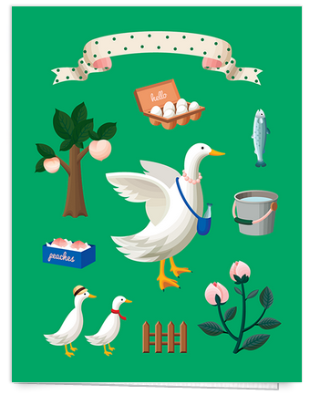 duck egg illustrated card
