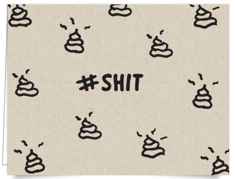 Funny Hashtag I'm Sorry Card