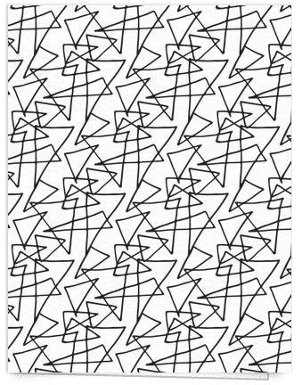 black and white geometric stationery