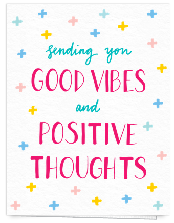 adorable colorful good vibes card