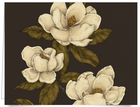 Vintage Hand painted floral stationery