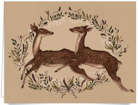 Hand painted deer stationery