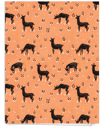 Hand painted deer art card