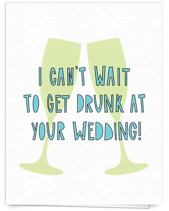 Funny wedding congrats card