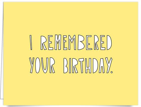 Yellow Funny Birthday Card