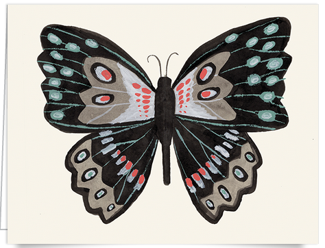 hand painted butterfly stationery