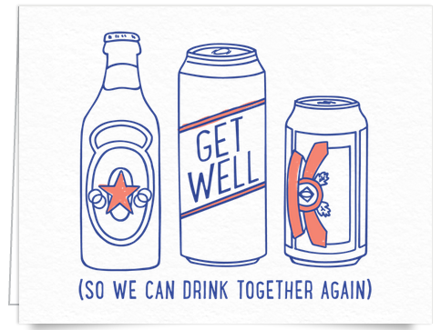 alcohol funny get well card