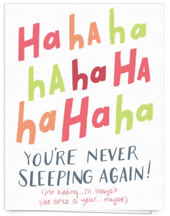 Funny baby congrats card