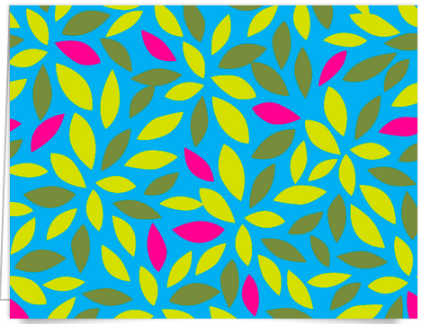 graphic colorful flower stationery