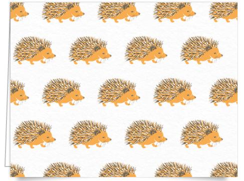 Cute Hedgehog Art Card