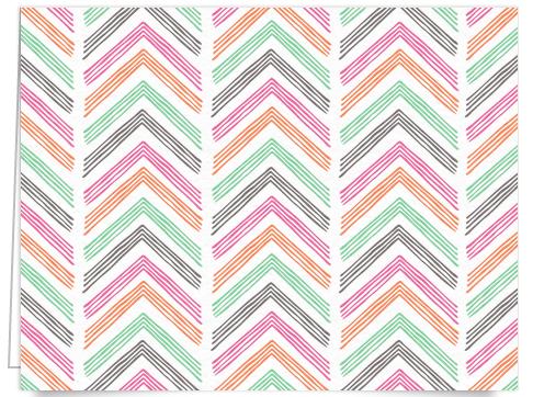 pastel chevron stationery