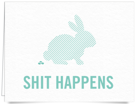 Funny Shit happens Card