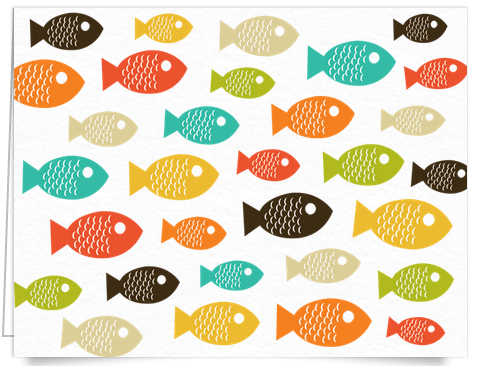 Colorful fish stationery
