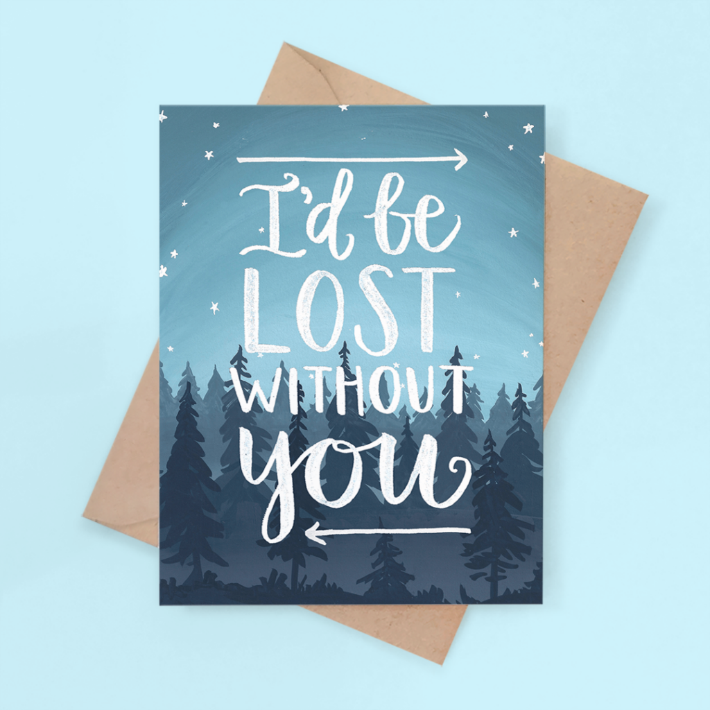 beautiful-lost-without-you-painted-card