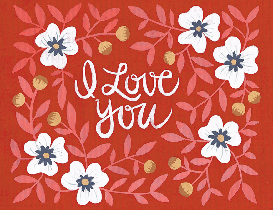 beautiful-hand-painted-i-love-you-card