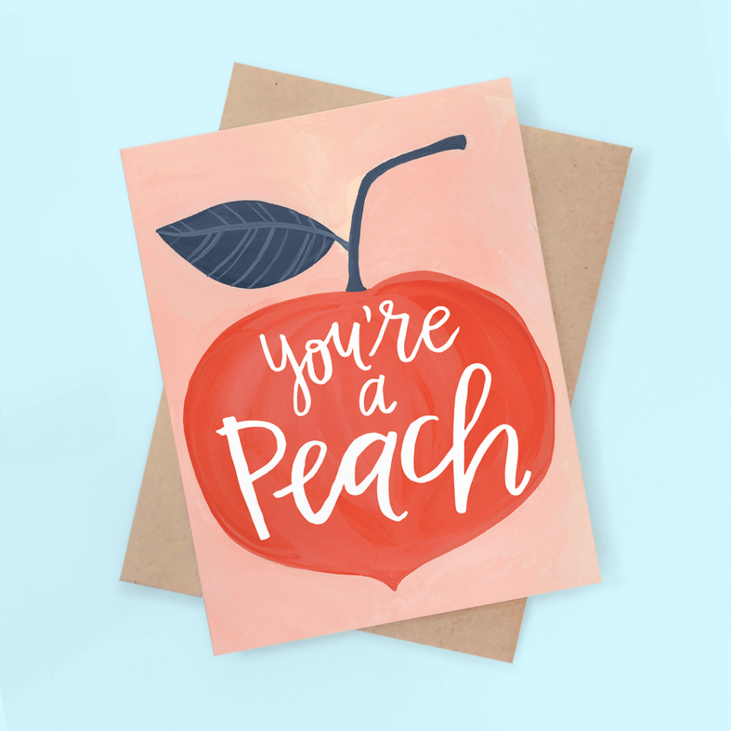 hand-painted-youre-a-peach-friend-card