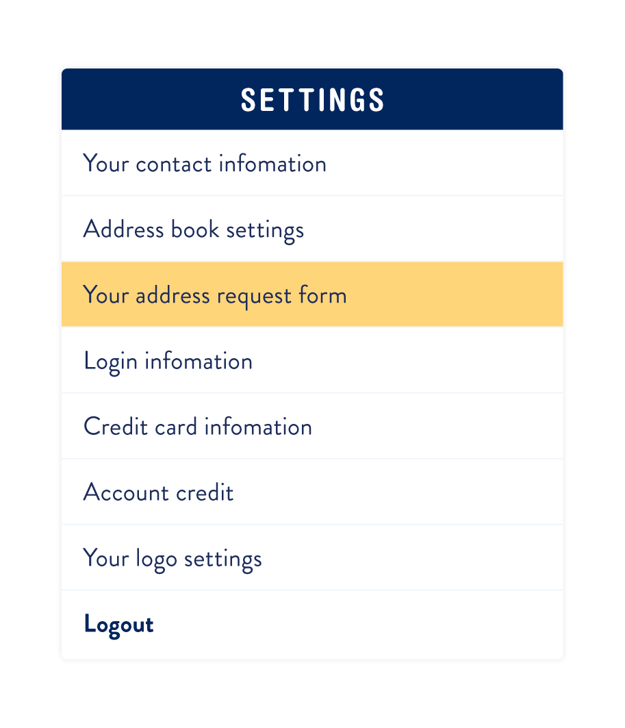 Your_address_request_form