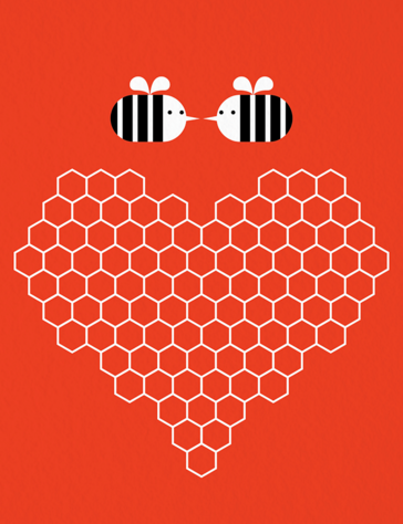 red-modern-meant-to-bee-valentines-day-card