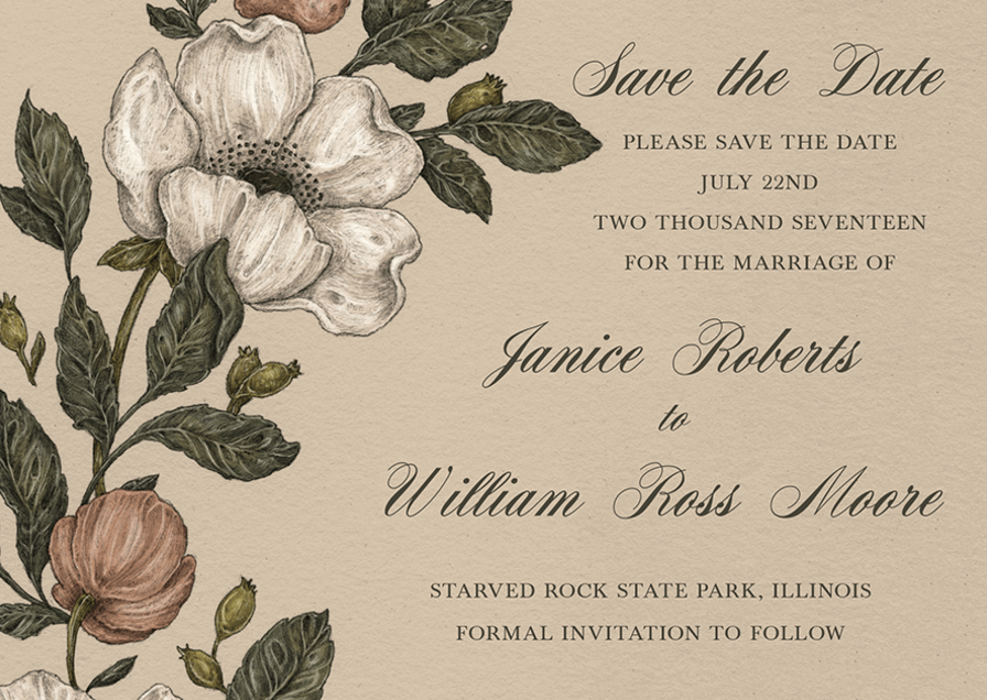 Beautiful New Rustic Wedding Invites & Save the Dates by Jessica Roux -