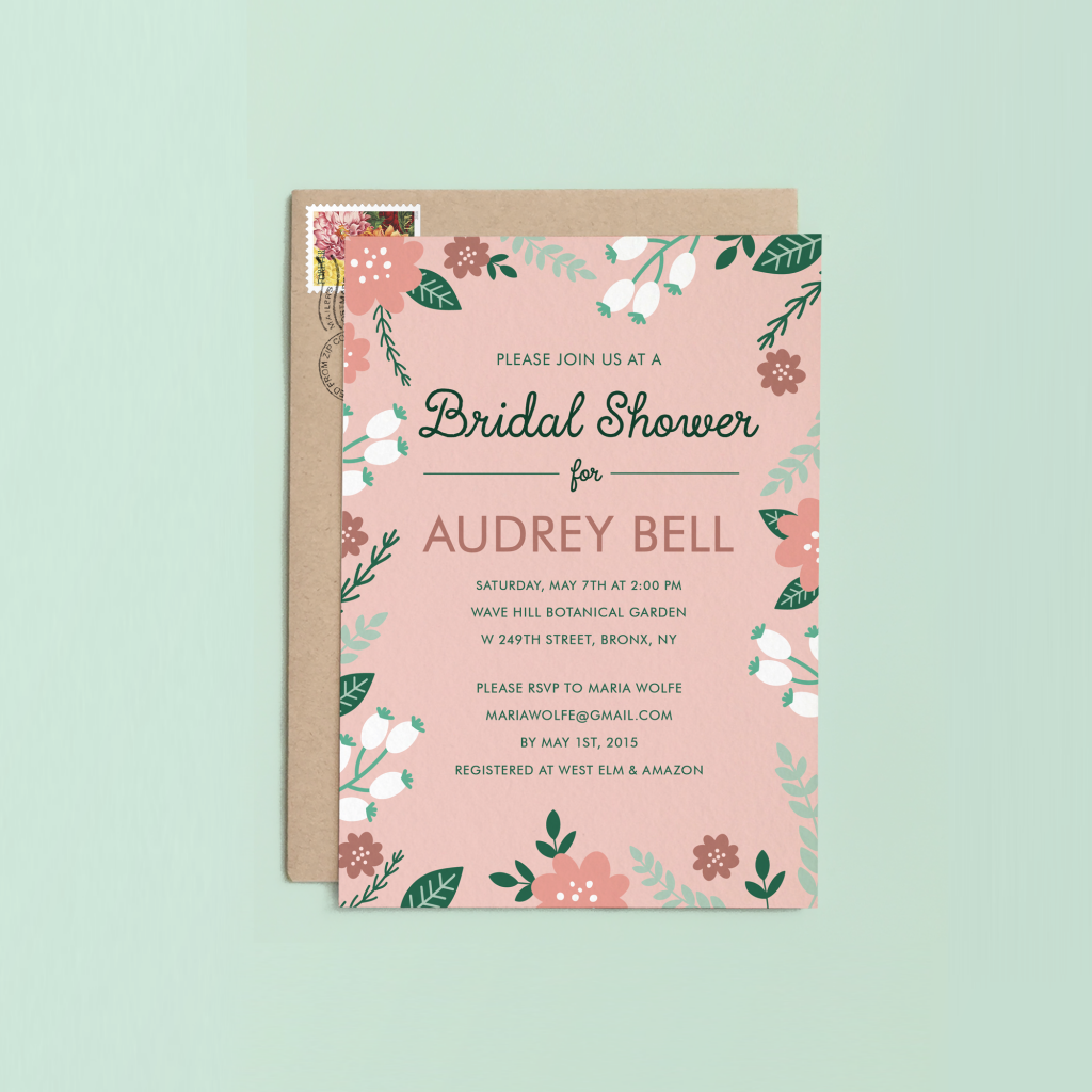 10 gorgeous bridal shower invitations that will make you swoon pink bridal shower invite filmwisefo Images
