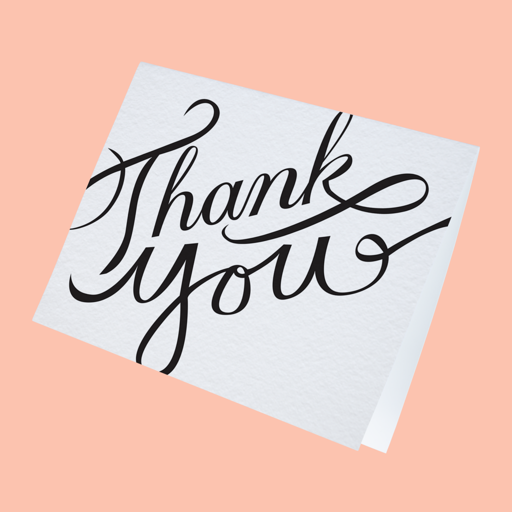 How to write a thank you note the ultimate guide Thank you in calligraphy writing