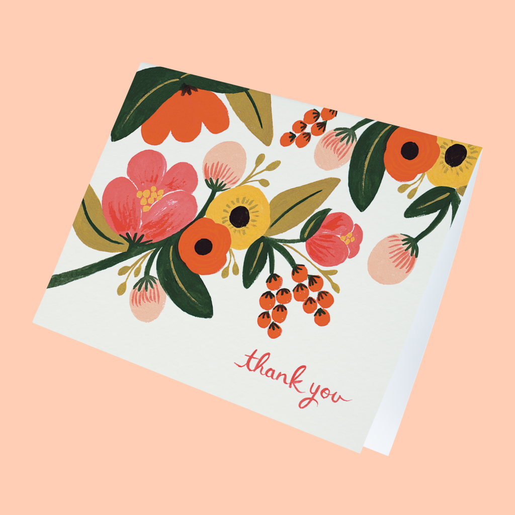 how to write a thank you note the ultimate guide floral thank you note