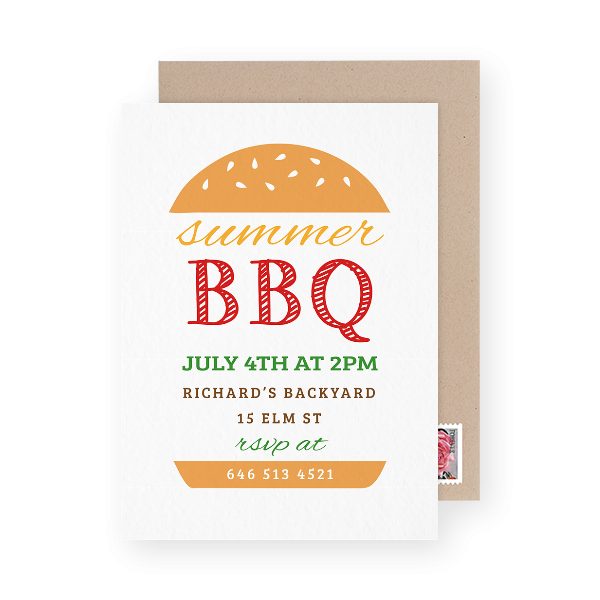 Burger Party Invite