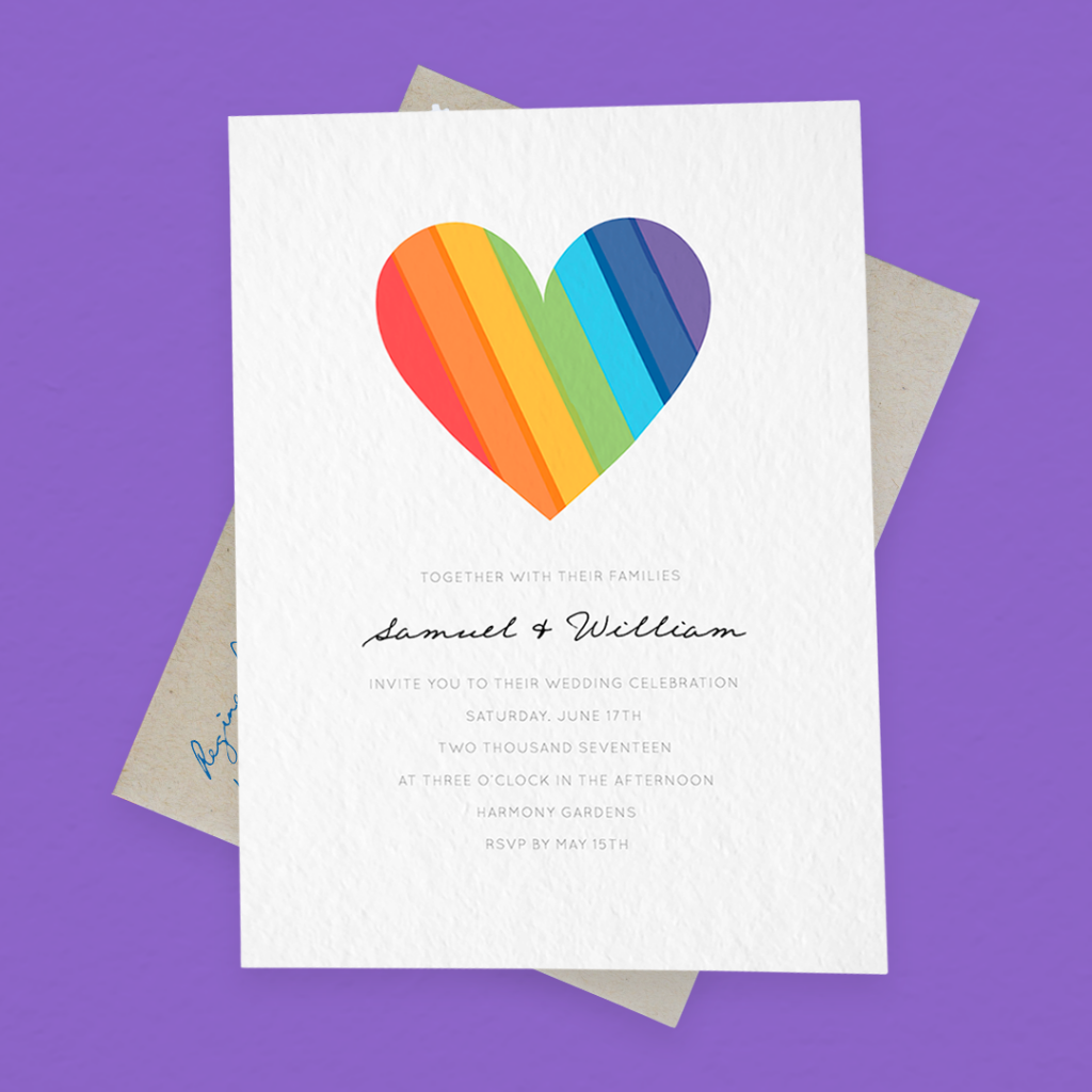 7 Gay Wedding Invitations For Every Color of the Rainbow