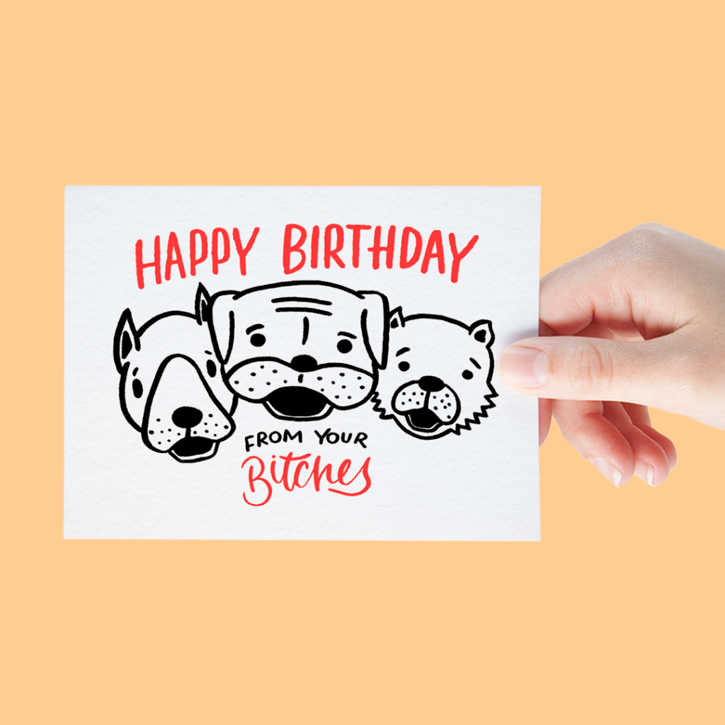 What Funny Birthday Card Is Complete Without A Lovable Play On Words B 3