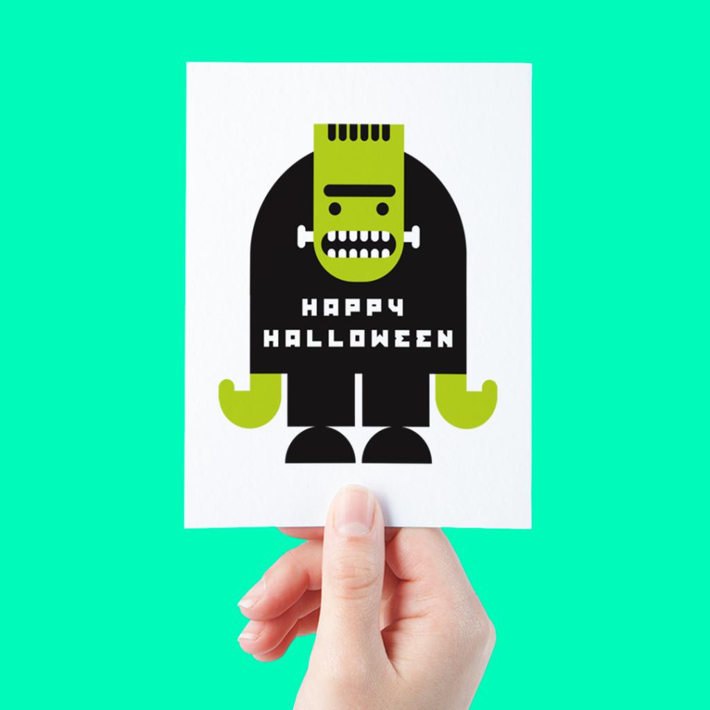 green-halloween-cards