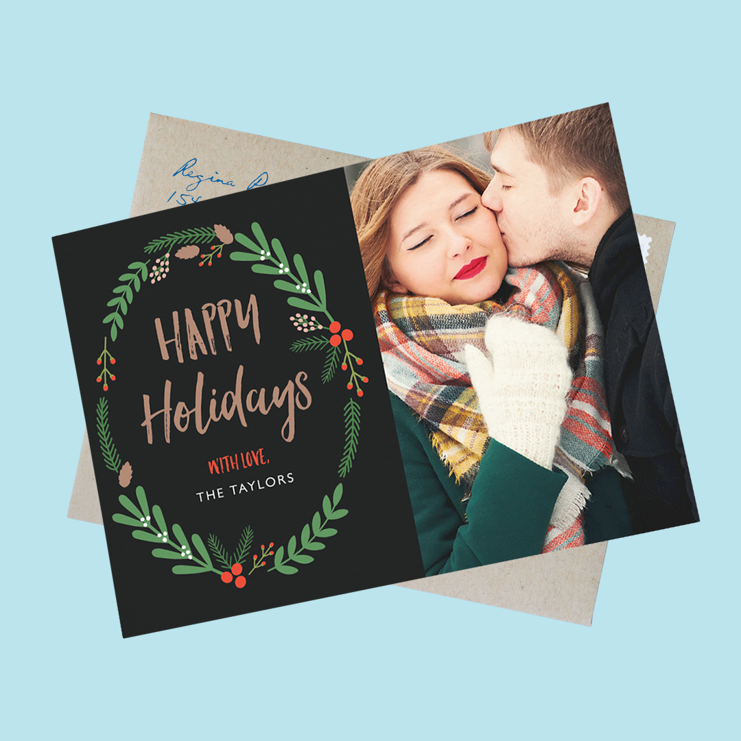 floral-wreath-holiday-photo-card
