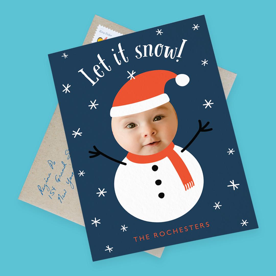 snowman-photo-card