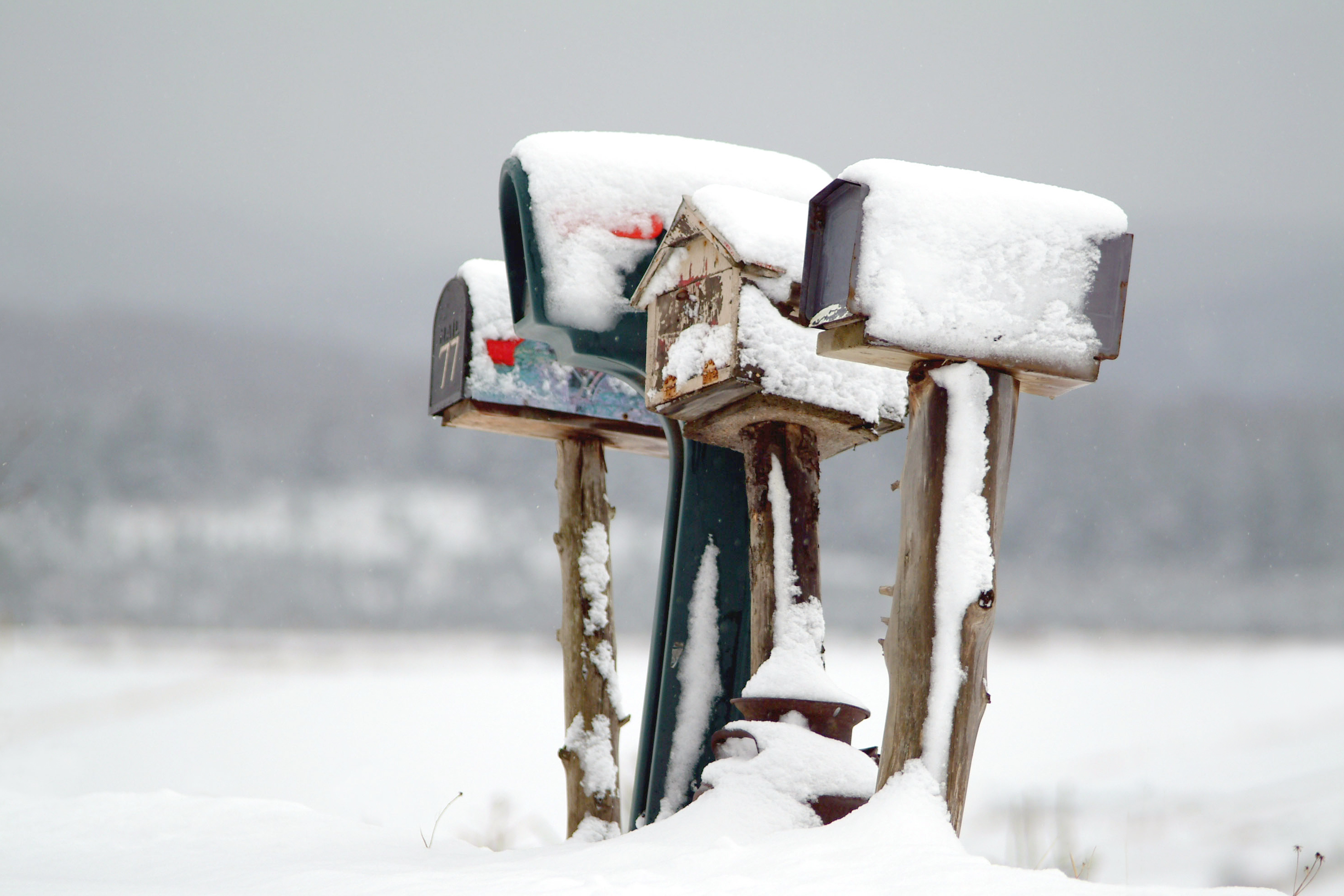 Mailbox in the north america countryside