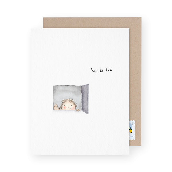 adorable hello card