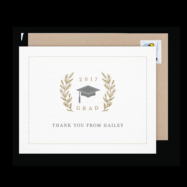 elegant graduation thank you note