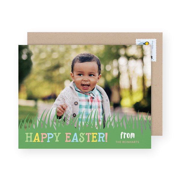 cute photo Easter greeting card