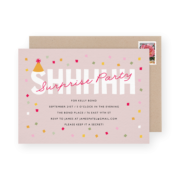surprise birthday party invite