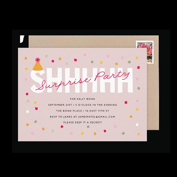 surprise birthday party invite
