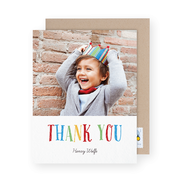 kids photo thank you card